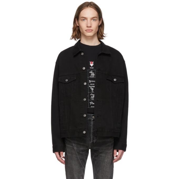 Photo: Balenciaga Black Denim Speed Jacket