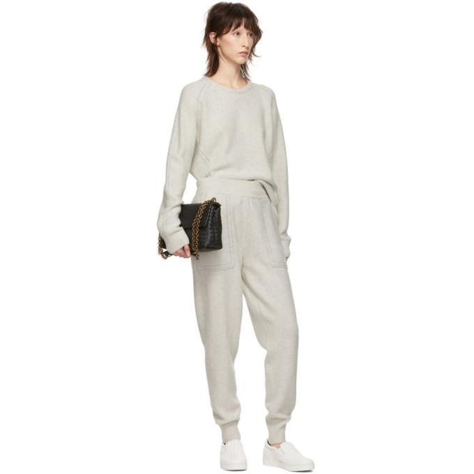 Bottega Veneta Grey Wool Lurex Stitch Sweater