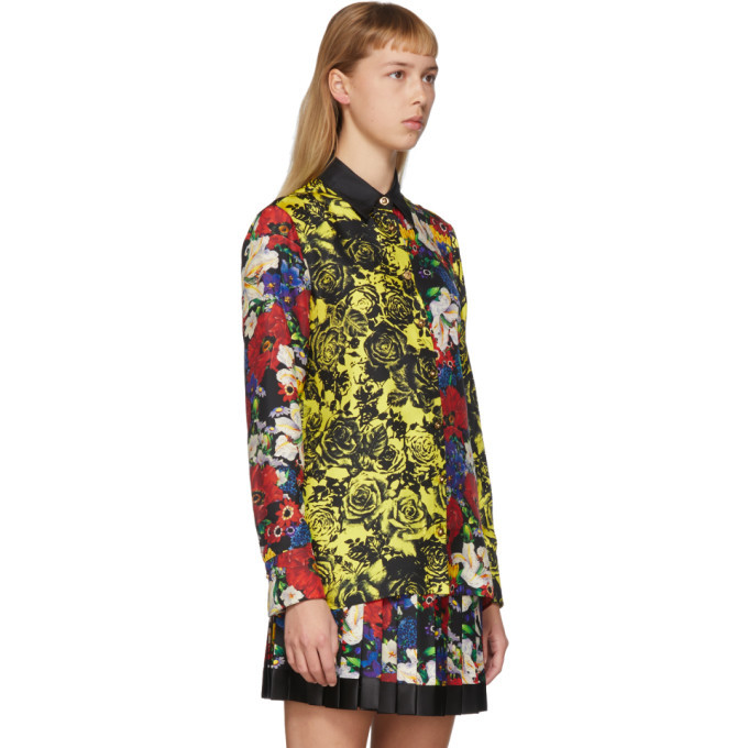 Versace SSENSE Exclusive Multicolor Silk Floral Blouse