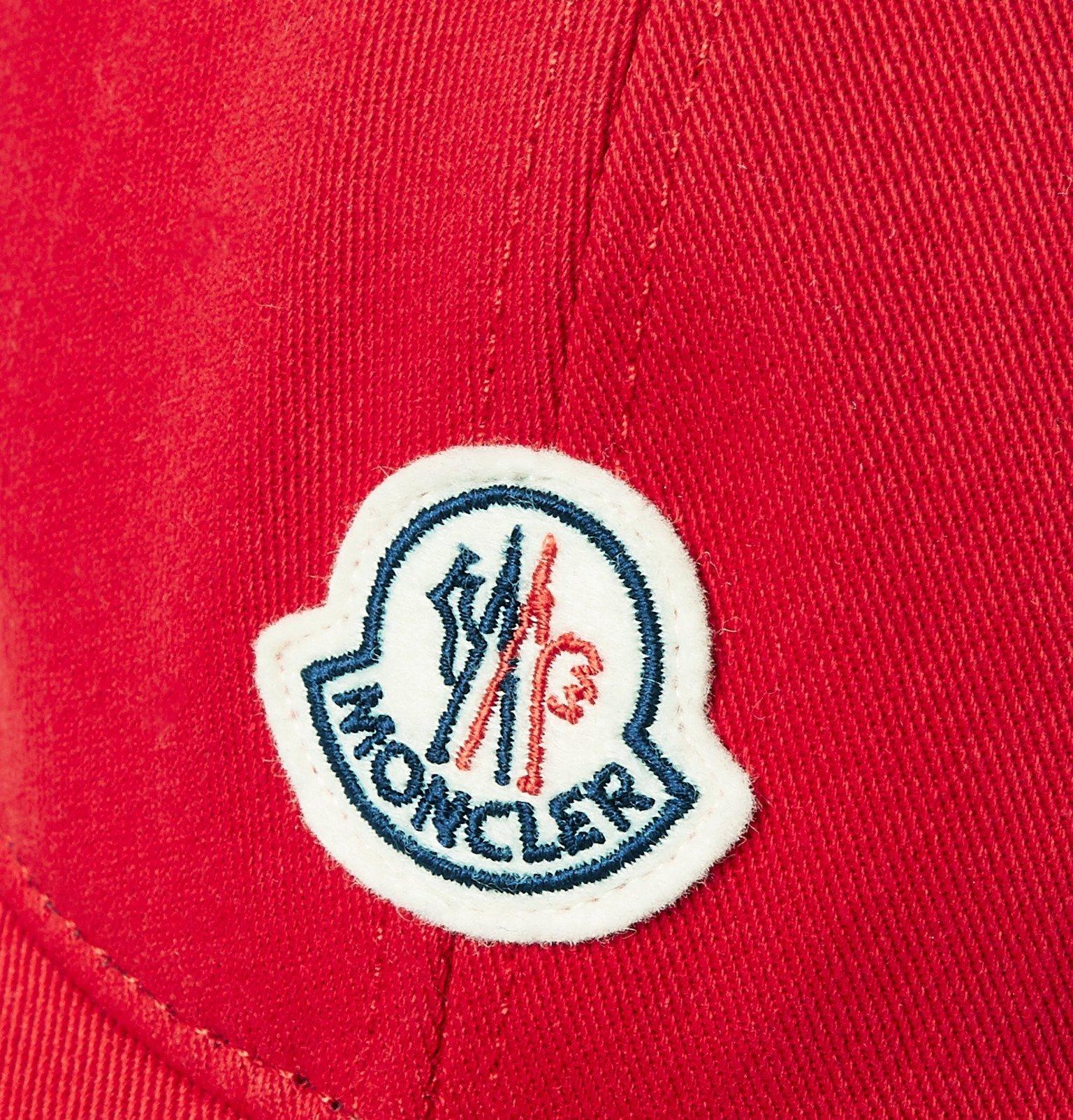 Moncler - Logo-Appliquéd Cotton-Twill Baseball Cap - Red