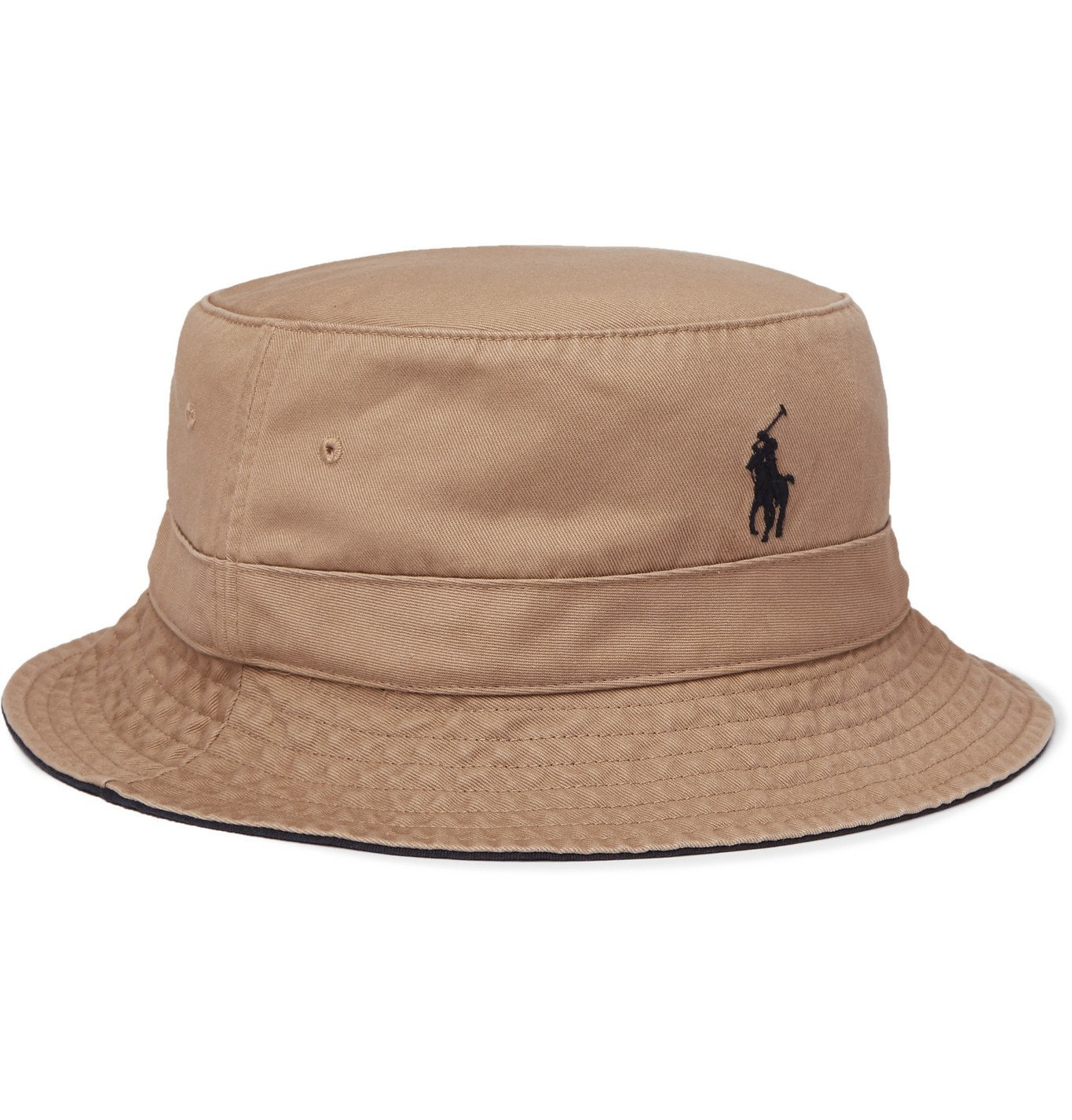 Photo: Polo Ralph Lauren - Loft Logo-Embroidered Cotton-Twill Bucket Hat - Neutrals