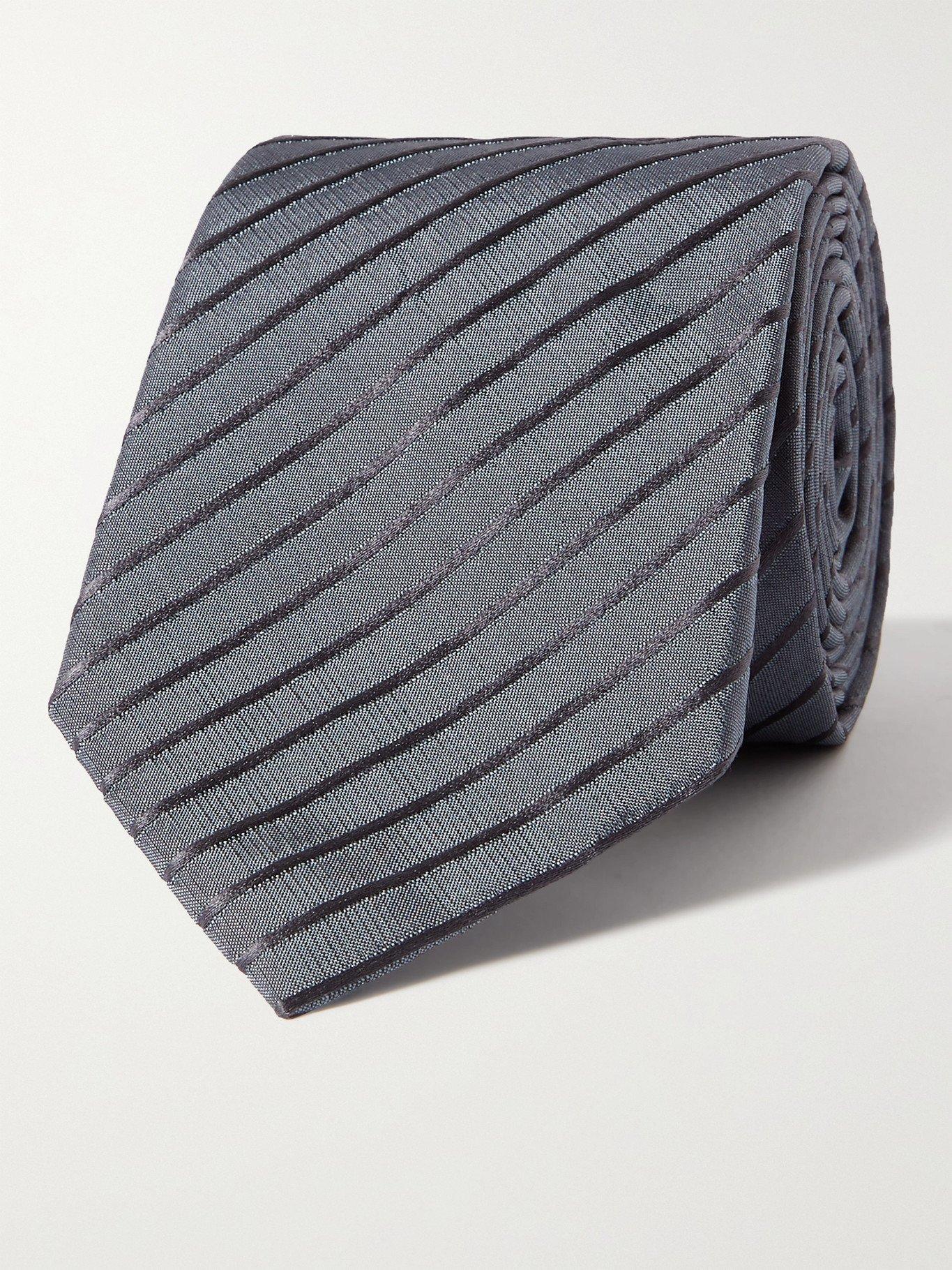 GIORGIO ARMANI - 8cm Striped Silk-Blend Tie - Unknown