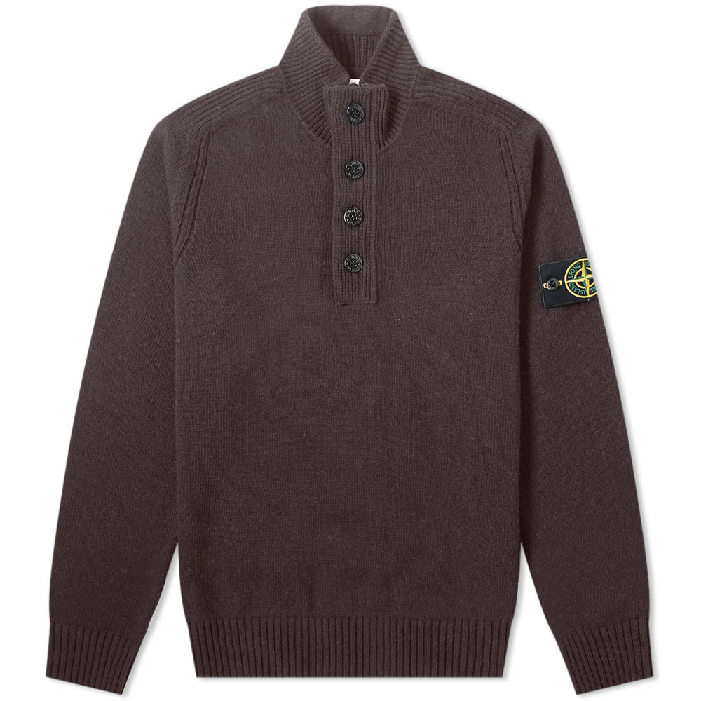 Stone Island Lambswool Button Half Zip Knit