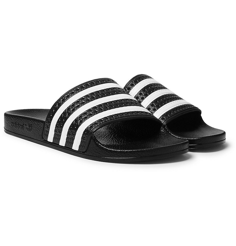 Photo: adidas Originals - Adilette Textured-Rubber Slides - Black