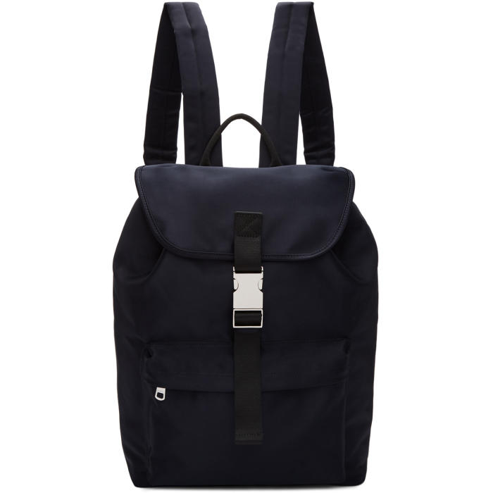 Photo: A.P.C. Navy Satin Maxence Backpack