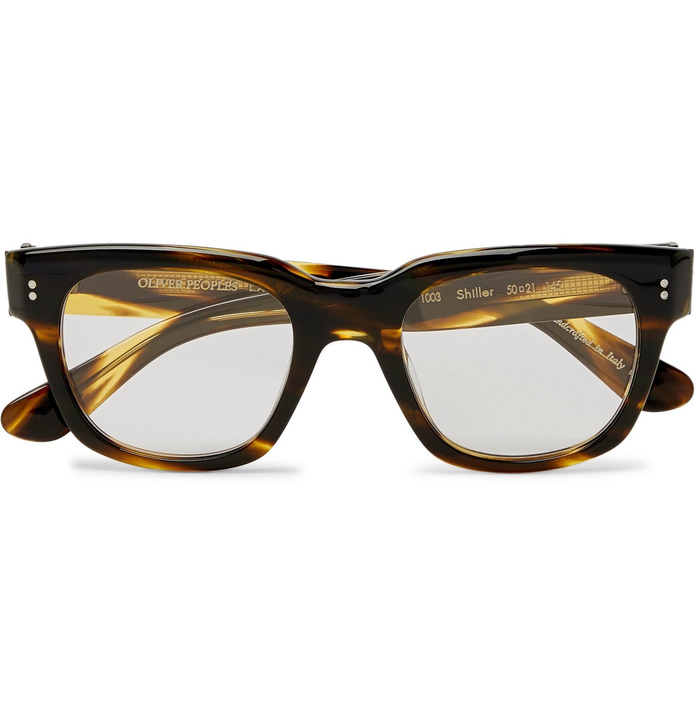 Photo: Oliver Peoples - D-Frame Acetate Sunglasses - Brown