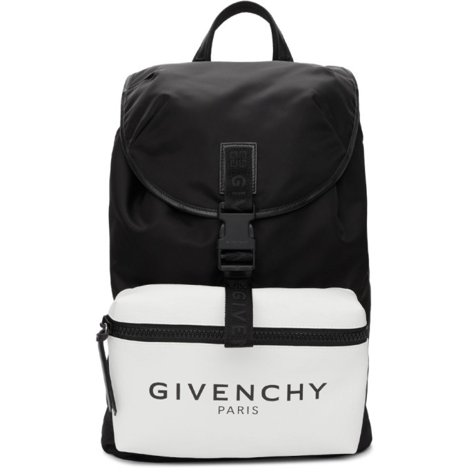 Photo: Givenchy Black Glow-In-The-Dark Pocket Logo Backpack