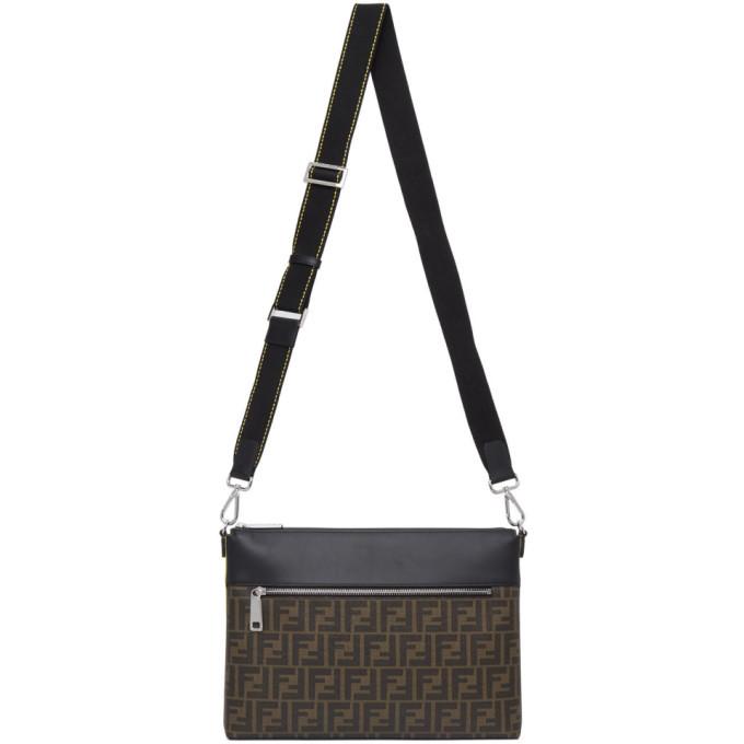 Photo: Fendi Brown and Black Medium Forever Fendi Messenger Bag