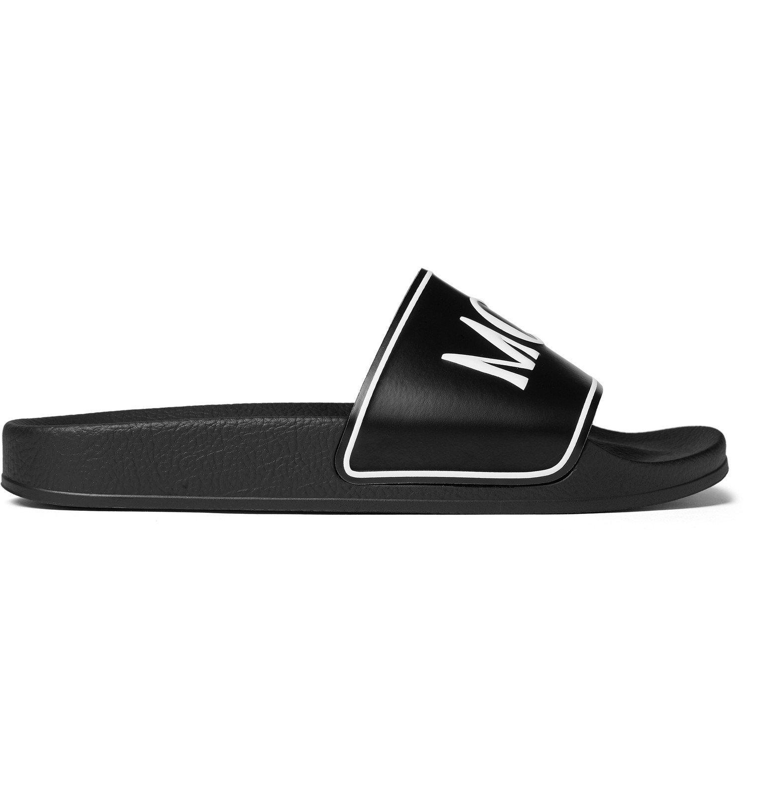 Photo: McQ Alexander McQueen - Infinity Logo-Print Rubber Slides - Black