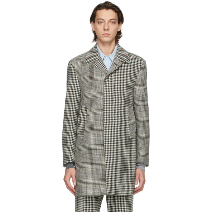 Photo: Thom Browne Black and White Prince Of Wales Funmix Hunting Coat