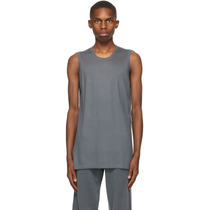 Photo: Frenckenberger Grey Cashmere Muscle Tank Top