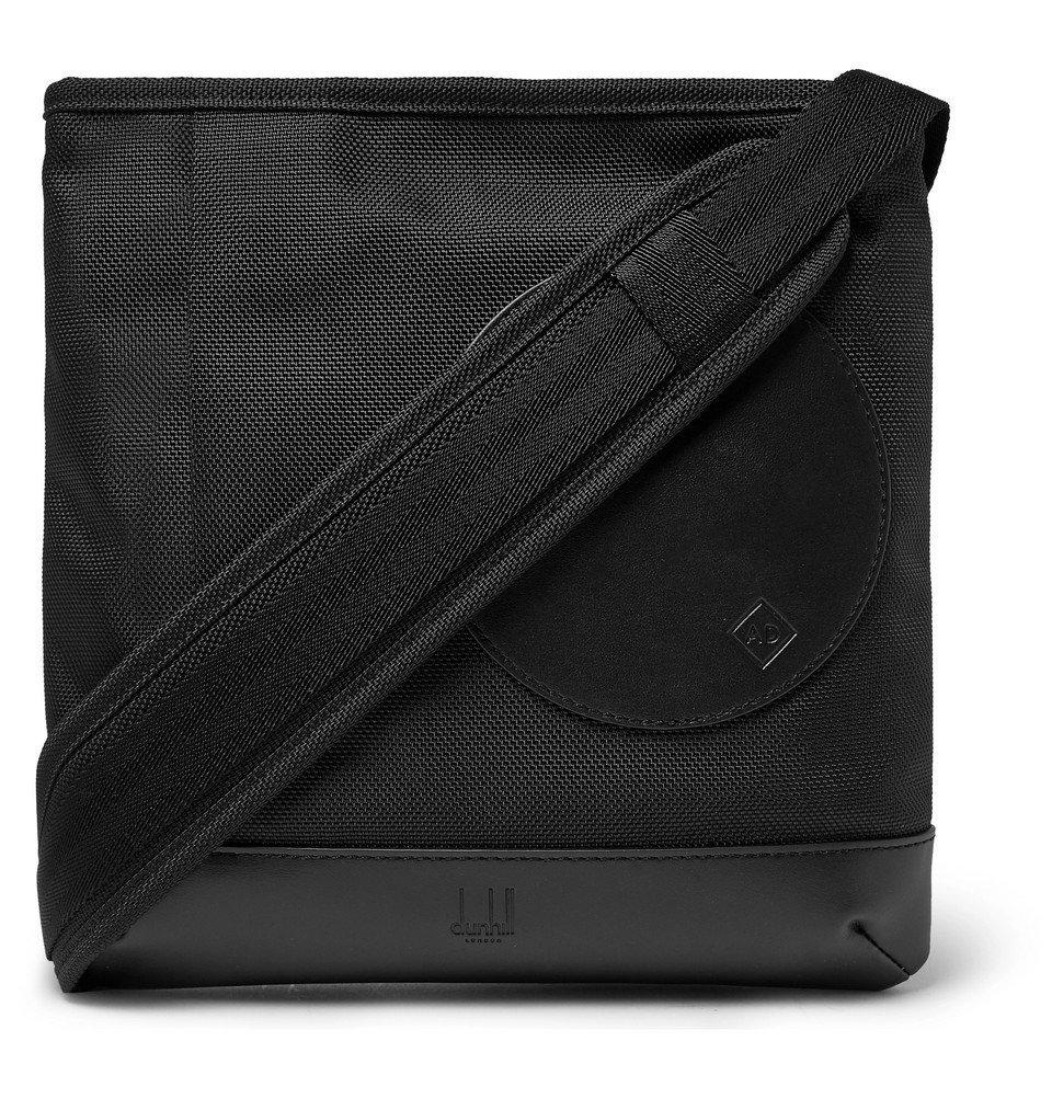 Dunhill - Radial Leather-Trimmed Nylon-Canvas Messenger Bag - Black
