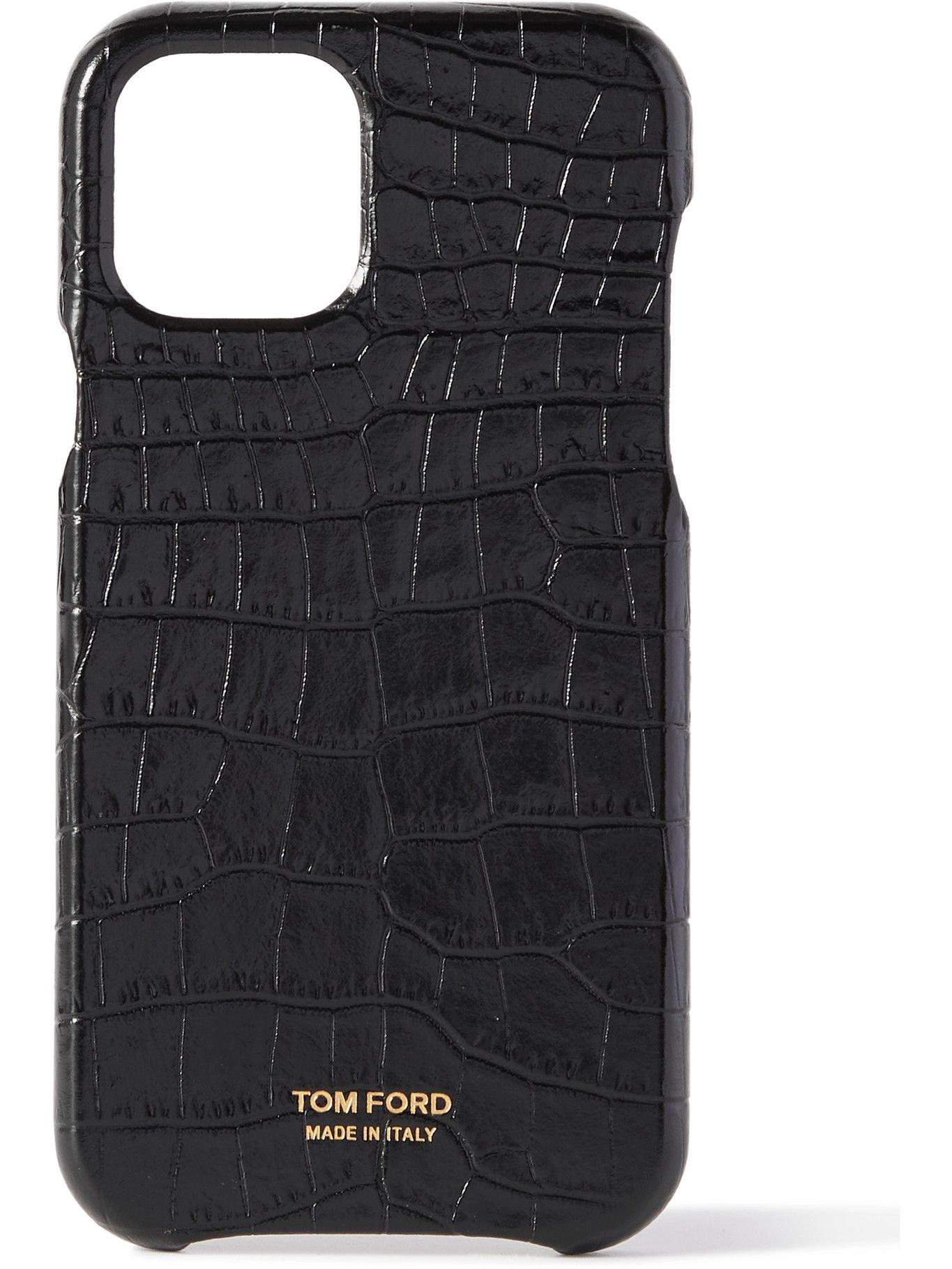 TOM FORD - Croc-Effect Leather iPhone 12 Pro Case
