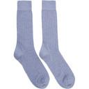Sunspel Blue Rib Socks