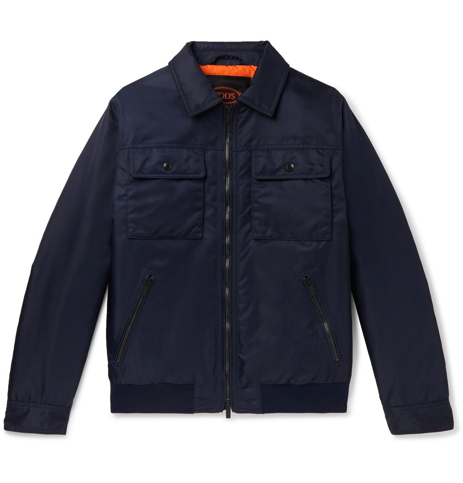 Photo: Tod's - Slim-Fit Shell Bomber Jacket - Blue