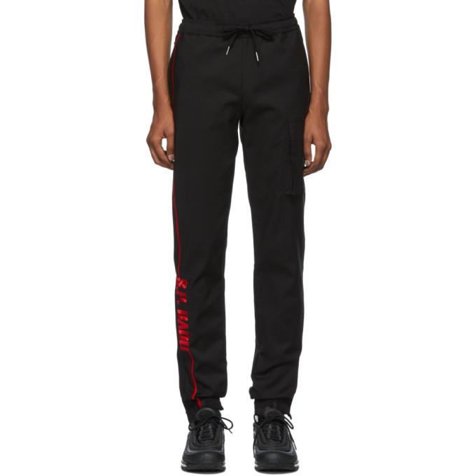 Photo: S.P. Badu Black and Red Logo Jogger Lounge Pants