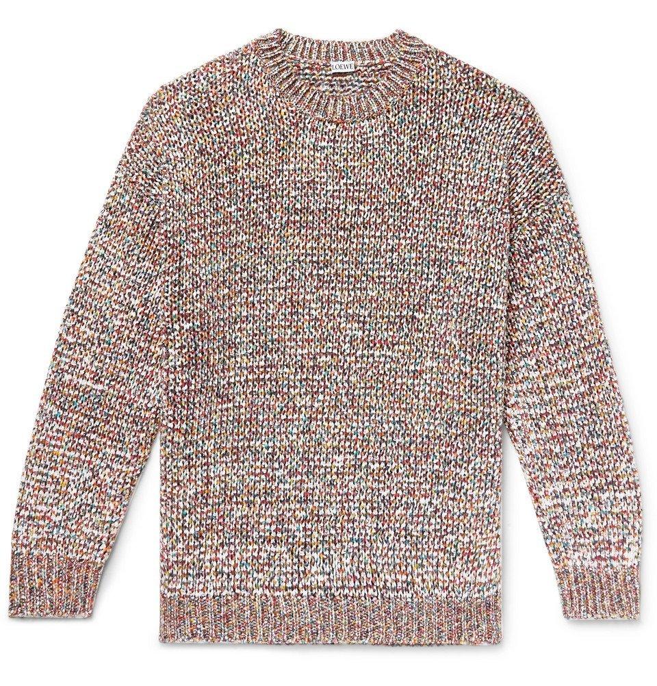 Photo: Loewe - Mélange Open-Knit Sweater - Multi