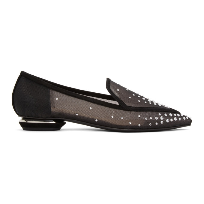 Photo: Nicholas Kirkwood Black Mesh Beya Loafers