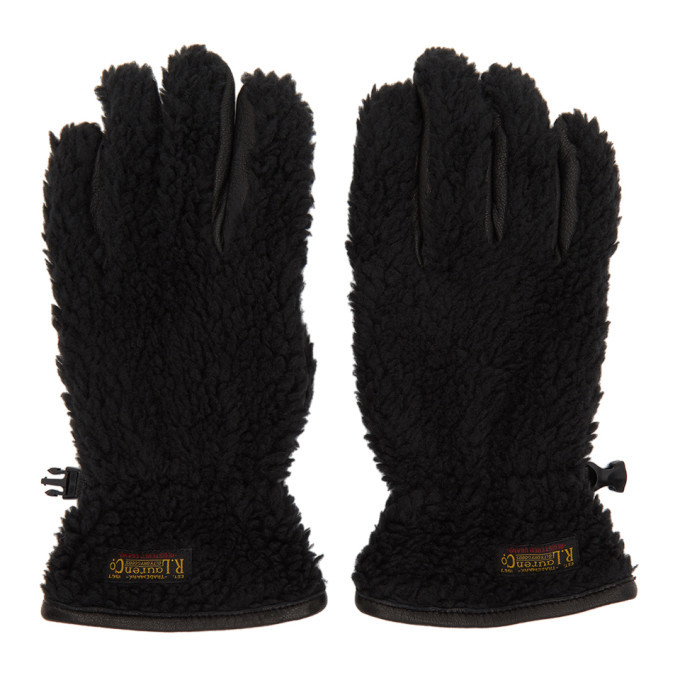 Photo: Polo Ralph Lauren Black Sherpa Outdoor Touch Gloves