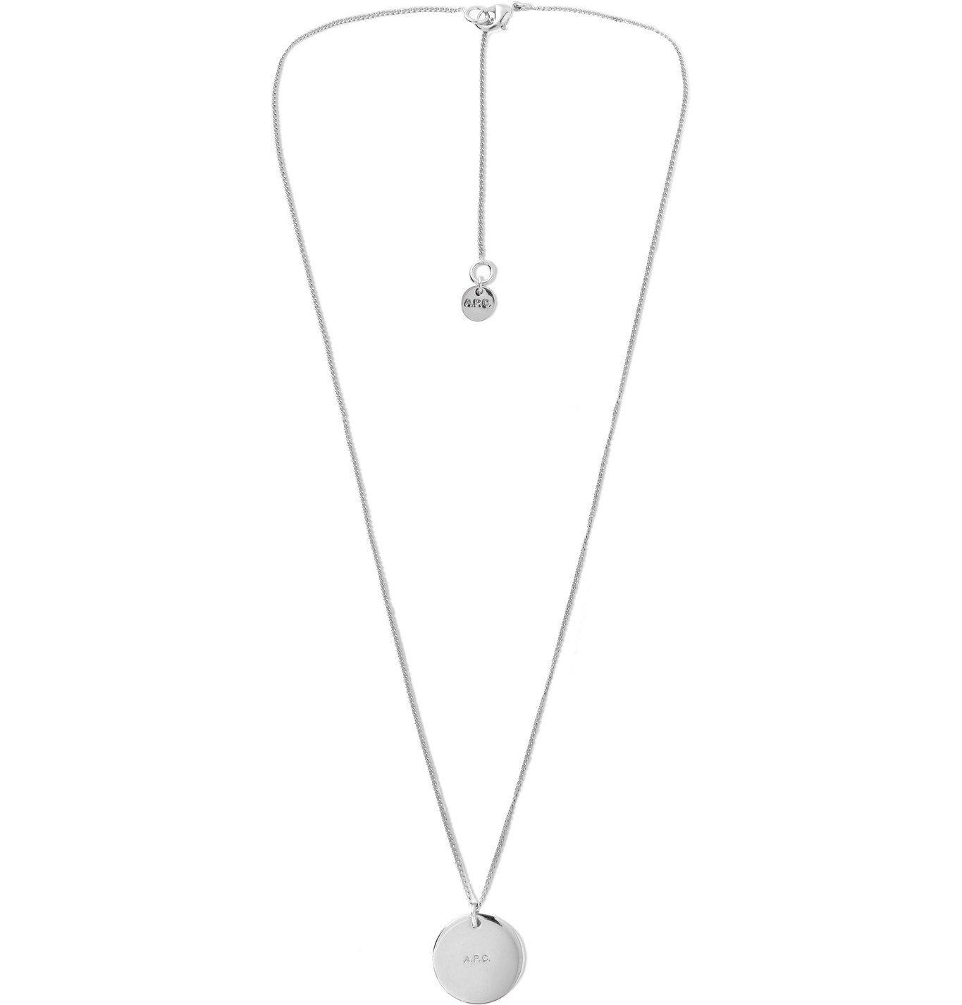 Photo: A.P.C. - Logo-Engraved Silver-Tone Necklace - Silver