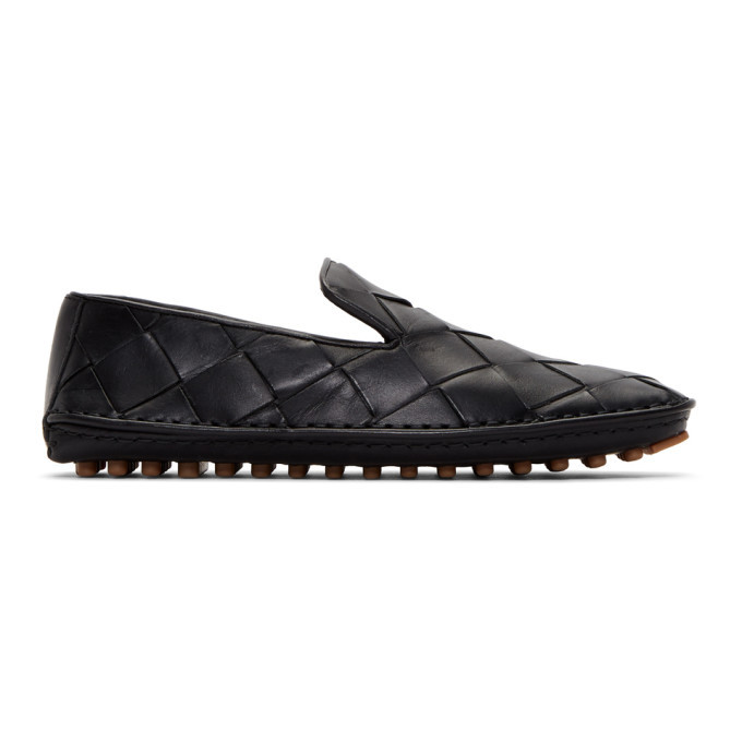 Photo: Bottega Veneta Black Intrecciato Douglas Loafers