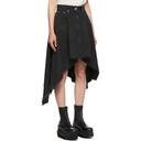 Sacai Black Denim Draped Asymmetric Skirt