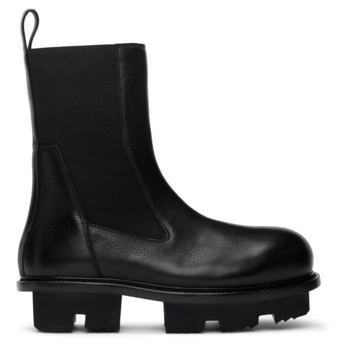 Photo: Rick Owens Black Bozo Megatooth Chelsea Boots