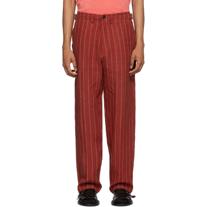 Photo: Nicholas Daley Red and Yellow Linen 70s Trousers