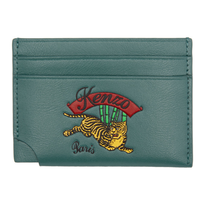 Photo: Kenzo Blue Leather Jumping Tiger Card Holder