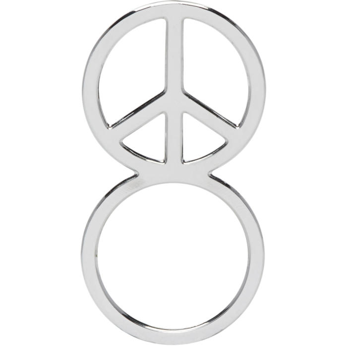 Haal Sliver Peace Sign Ring Haal