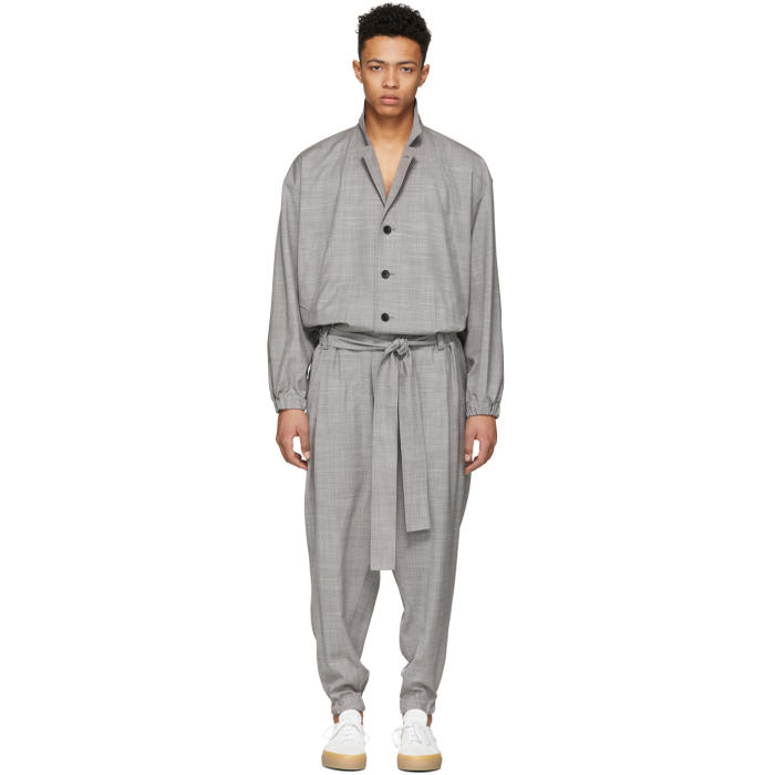 Photo: Issey Miyake Men Grey Wool Jumpsuit