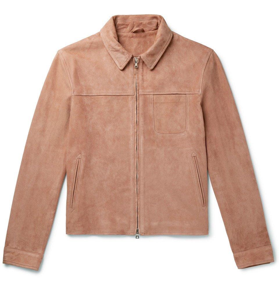 Photo: Mr P. - Slim-Fit Suede Blouson Jacket - Pink