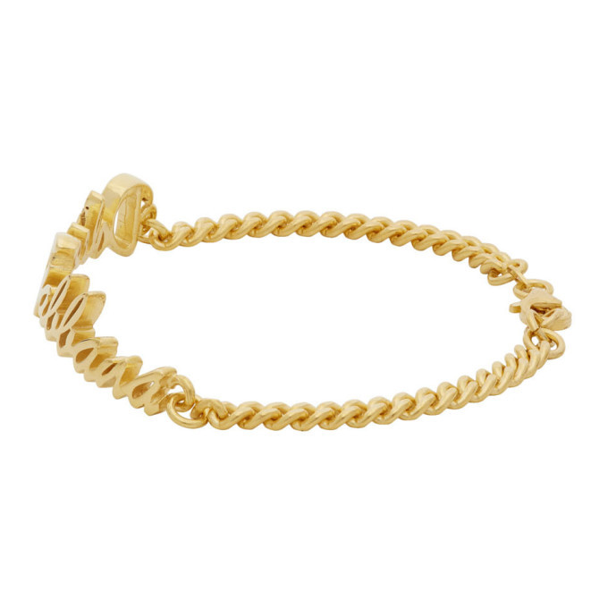 Dolce and Gabbana Gold Logo Bracelet