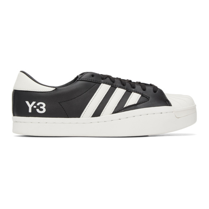 Photo: Y-3 Black and White Yohji Star Sneakers