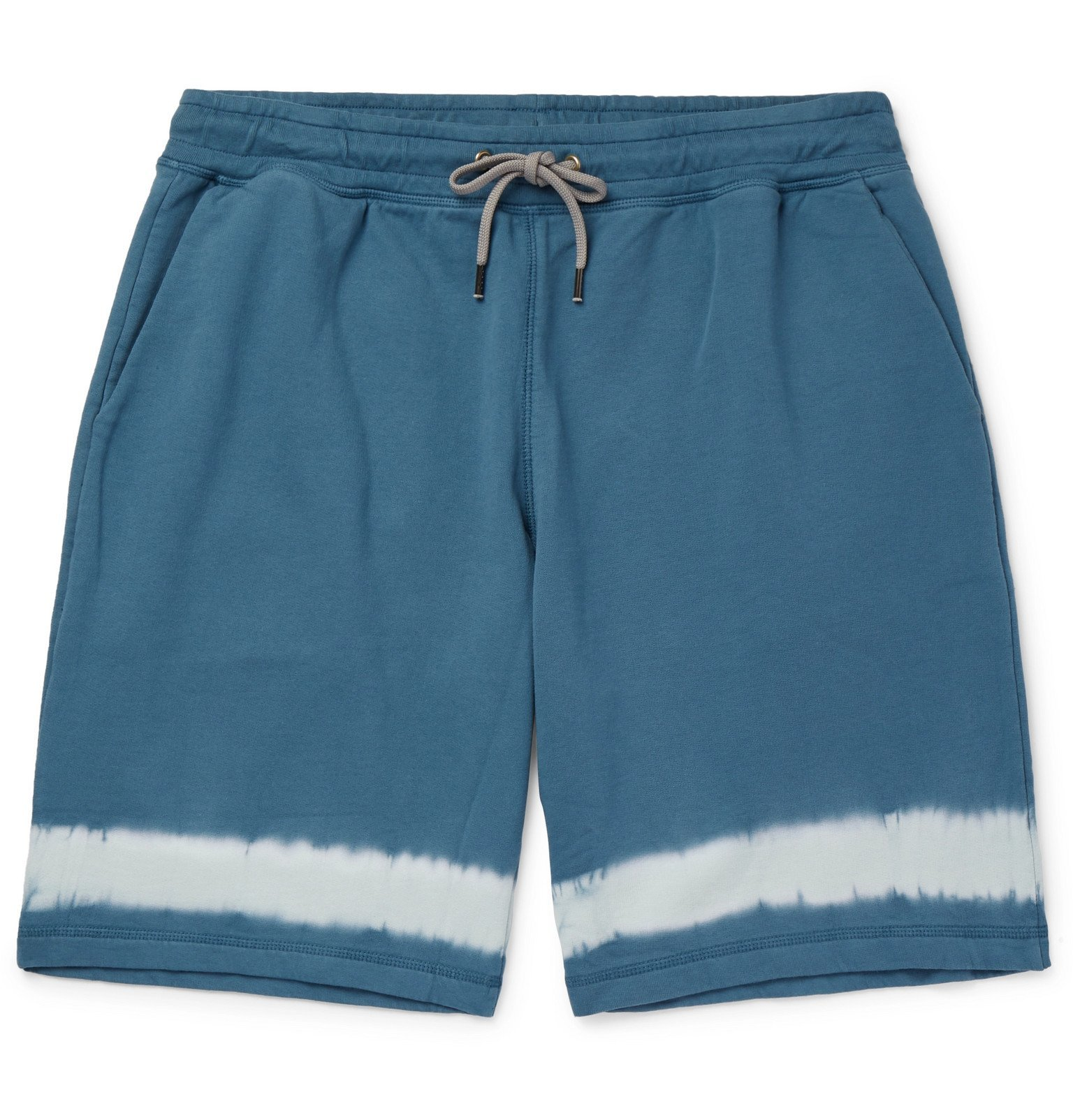 Photo: PS Paul Smith - Tie-Dyed Cotton-Jersey Drawstring Shorts - Blue