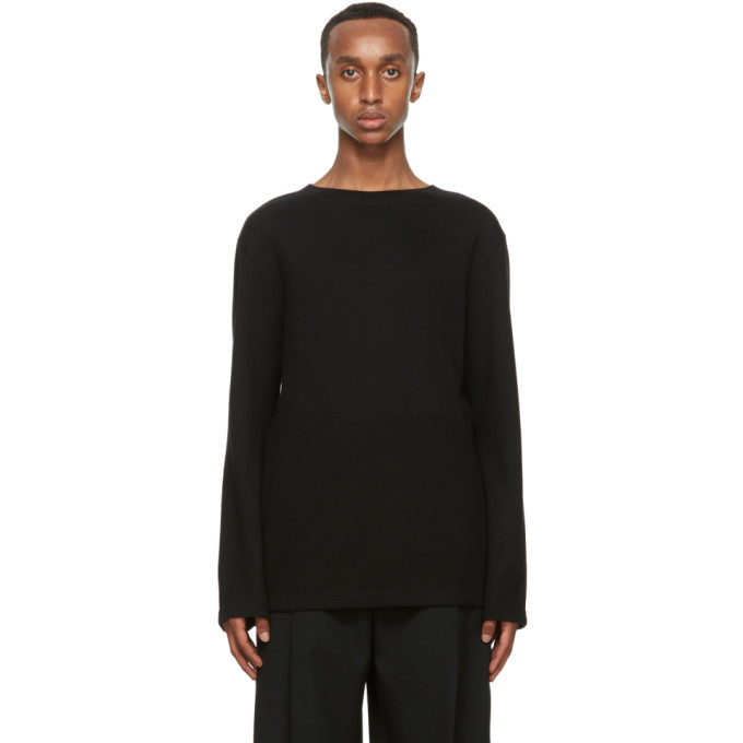 Photo: Lemaire Black Wool Long Sleeve T-Shirt