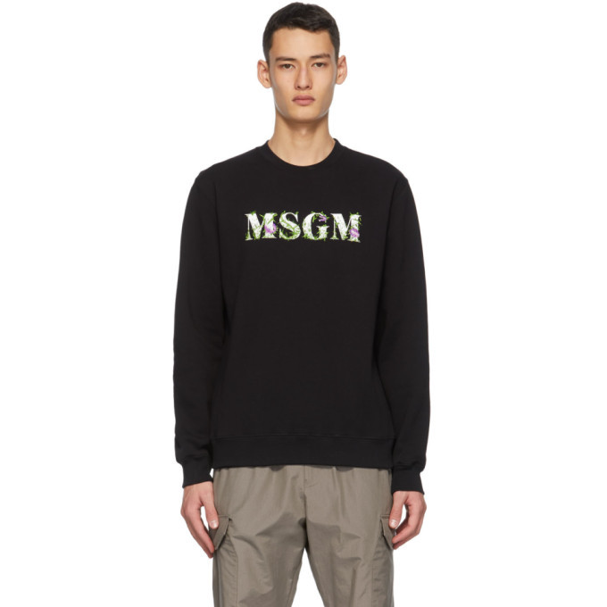 Photo: MSGM Black Carnivore Plant Logo Sweatshirt
