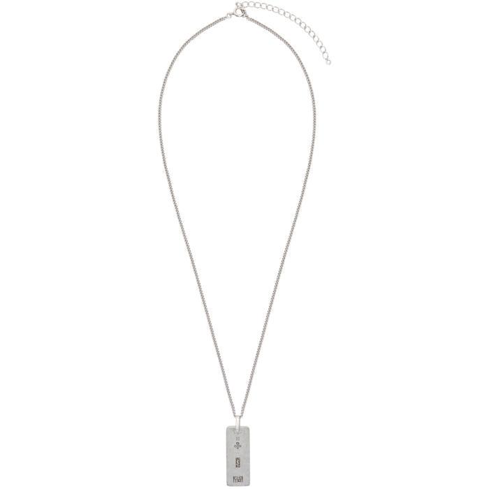Photo: Saint Laurent Silver ID Necklace