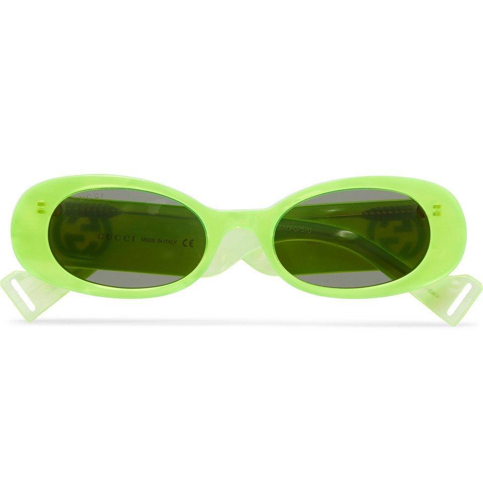 Photo: Gucci - Round-Frame Acetate Sunglasses - Yellow