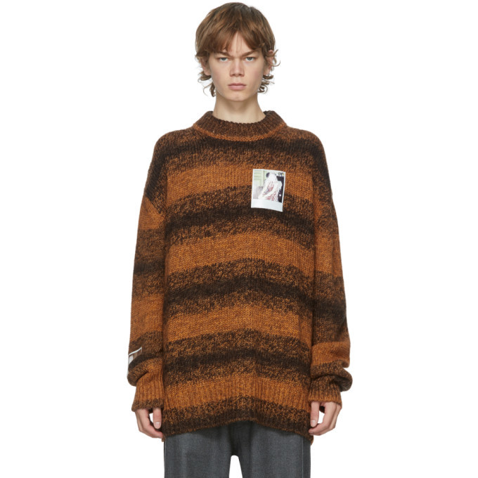 Raf Simons Brown Marl Patch Sweater