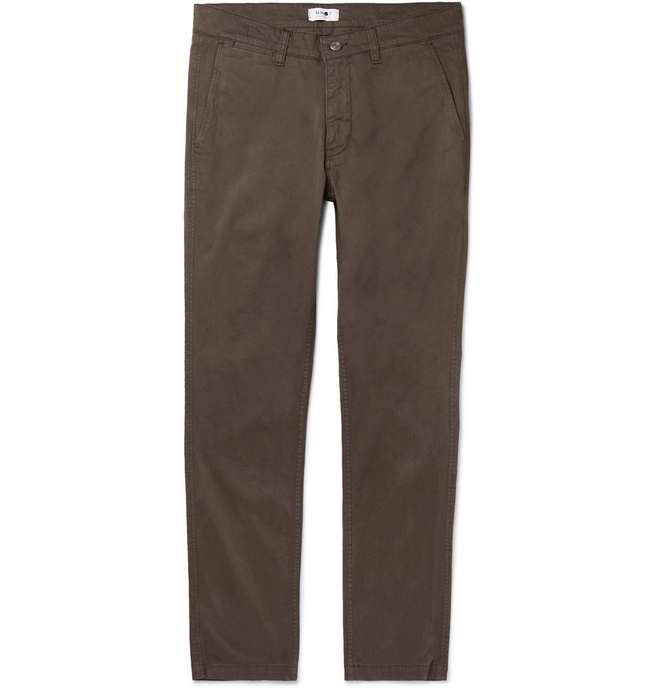 Photo: NN07 - Marco Slim-Fit Cotton-Blend Twill Chinos - Brown