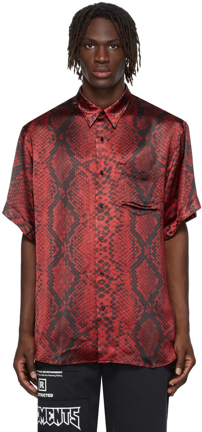 Photo: VETEMENTS Red Satin Python Shirt