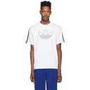 adidas Originals White Outline Trefoil T-Shirt