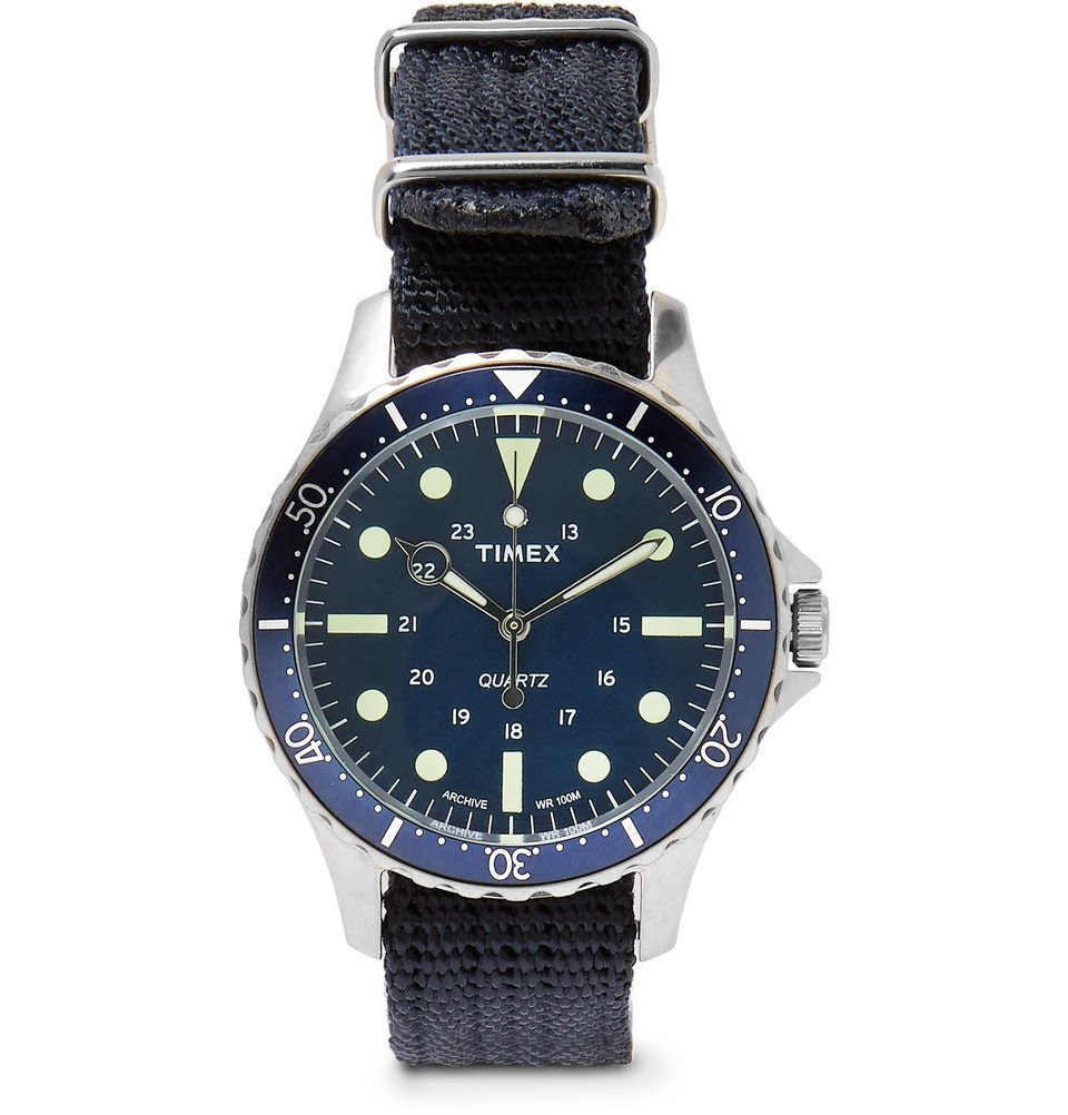 Photo: Timex - Navi Harbor Stainless Steel and Nylon-Webbing Watch - Men - Blue
