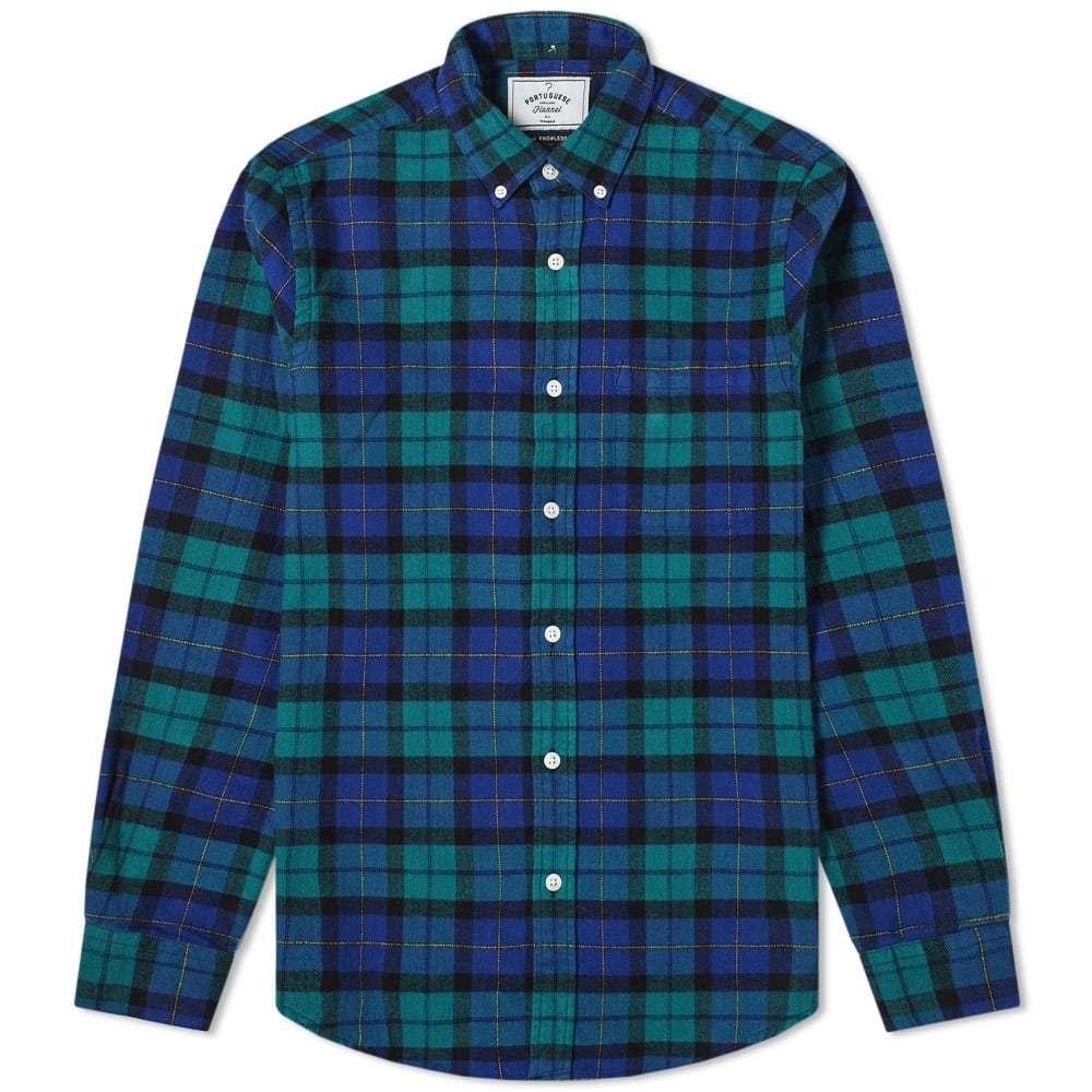 Photo: Portuguese Flannel Montvideo Button Down Check Shirt