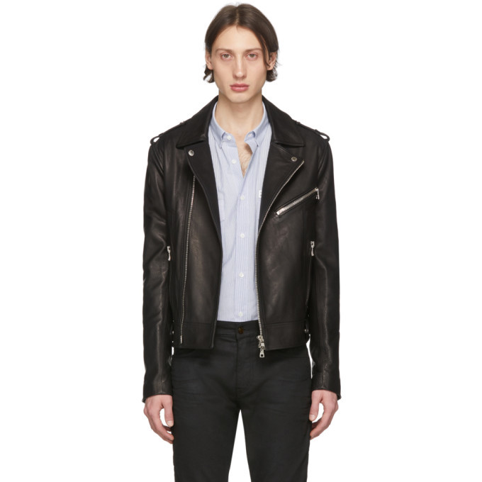 Photo: Balmain Black Leather Biker Jacket
