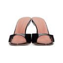 Amina Muaddi Black Patent Caroline Heeled Sandals