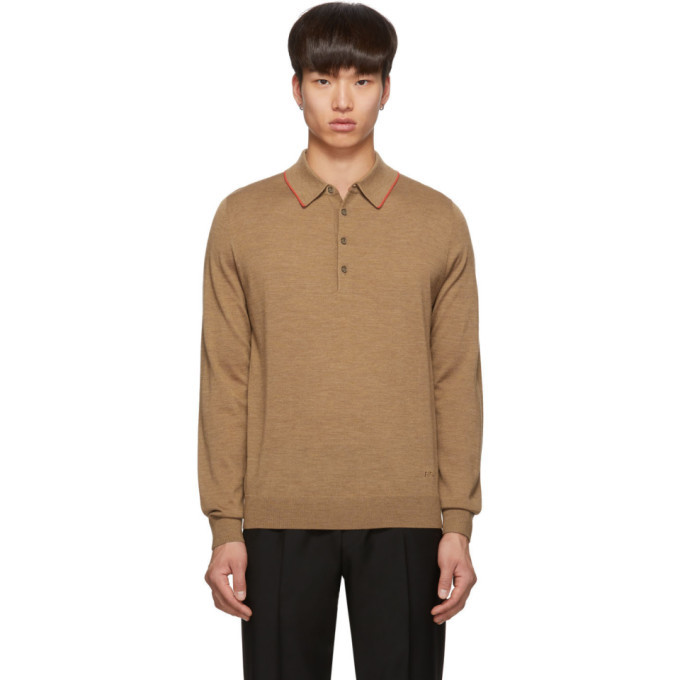 Photo: PS by Paul Smith Tan Knit Polo