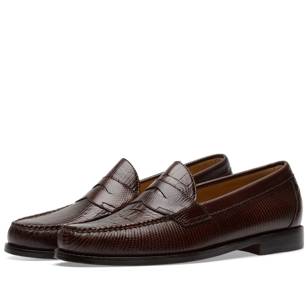 Photo: Engineered Garments x Weejun Logan Croc Penny Loafer