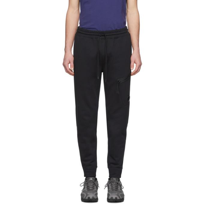 Photo: C.P. Company Black Diagonal Fleece Lounge Pants